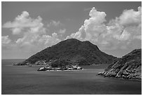 Trac Lon Islets. Con Dao Islands, Vietnam ( black and white)