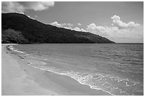 Orange sands, Dam Trau Beach. Con Dao Islands, Vietnam ( black and white)