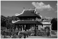 Shrine, Hang Duong Cemetery. Con Dao Islands, Vietnam ( black and white)