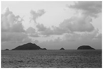 Islets and Con Son Bay. Con Dao Islands, Vietnam ( black and white)
