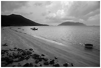Loi Voi Beach, Con Son. Con Dao Islands, Vietnam ( black and white)