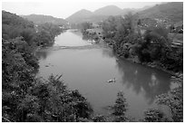 Ky Cung River Valley. Northest Vietnam (black and white)