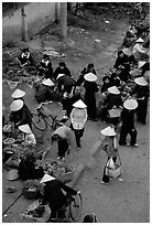 Ky Lua Market,  Cao Bang. Northeast Vietnam ( black and white)