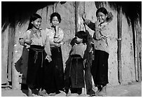 Montagnard Children near Tuan Giao. Northwest Vietnam ( black and white)
