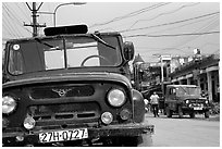 Russian Jeeps, Tam Duong. Northwest Vietnam (black and white)