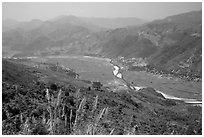 Valley of Lai Chau. Northwest Vietnam ( black and white)