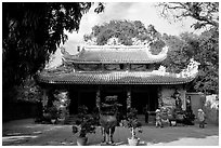 Temple, Marble Mountains. Da Nang, Vietnam ( black and white)