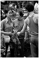 Market scene. Hanoi, Vietnam ( black and white)