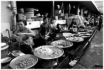 Fish vendors. Ho Chi Minh City, Vietnam ( black and white)