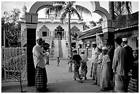 Mosque in Cham minority village. Chau Doc, Vietnam ( black and white)