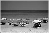 Saigon's beach resort. Vung Tau, Vietnam (black and white)