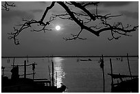 Sunrise. Ha Tien, Vietnam ( black and white)