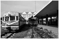 The train station. Da Lat, Vietnam (black and white)