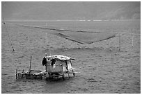 Fishing net,  Nha Trang. Vietnam (black and white)
