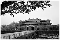 Ngo Mon gate. Hue, Vietnam (black and white)