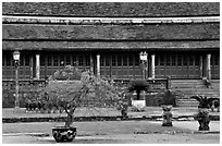 Pavilion,  citadel. Hue, Vietnam (black and white)