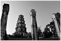 Thien Mu pagoda. Hue, Vietnam ( black and white)