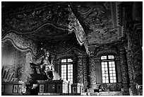 Khai Dinh tomb. Hue, Vietnam (black and white)