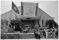 Ho Chi Minh museum. Hanoi, Vietnam (black and white)