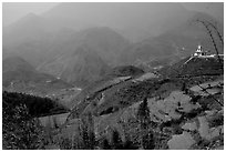 Hills of the Blue Country. Sapa, Vietnam (black and white)