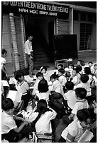 Outdoor classrom. Ho Chi Minh City, Vietnam (black and white)