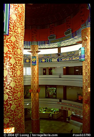 Inside the Chinese cultural center. Calgary, Alberta, Canada (color)