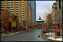 Street of Chinatown. Calgary, Alberta, Canada (color)