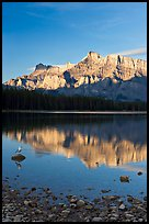 Mount Rundle reflected in Two Jack Lake, early morning. Banff National Park, Canadian Rockies, Alberta, Canada ( color)
