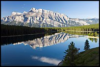 Mt Rundle and Two Jack Lake, early morning. Banff National Park, Canadian Rockies, Alberta, Canada ( color)
