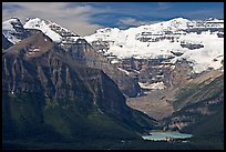 Distant view of Lake Louise and  Victoria Peak. Banff National Park, Canadian Rockies, Alberta, Canada ( color)