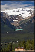 Observation platform, Lake Louise and  Victoria Peak. Banff National Park, Canadian Rockies, Alberta, Canada ( color)