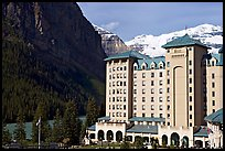 Chateau Lake Louise, with Victoria Peak in the background. Banff National Park, Canadian Rockies, Alberta, Canada ( color)