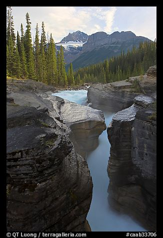 Mount Sarbach and Mistaya Canyon. Banff National Park, Canadian Rockies, Alberta, Canada (color)