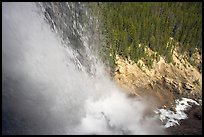 Water tumbling down Panther Falls. Banff National Park, Canadian Rockies, Alberta, Canada ( color)