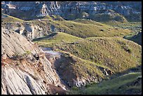 Hills and badlands, morning, Dinosaur Provincial Park. Alberta, Canada ( color)