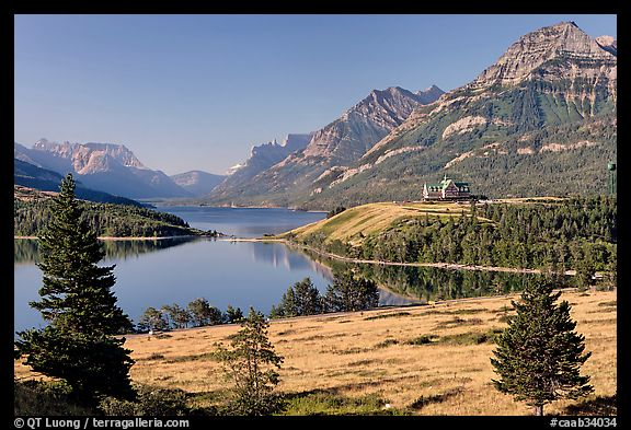 Waterton Lakes. Waterton Lakes National Park, Alberta, Canada (color)
