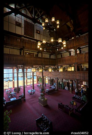 Picture Photo Lobby And Chandelier Of Historic Prince Wales Hotel Waterton Lakes National Park Alberta Canada