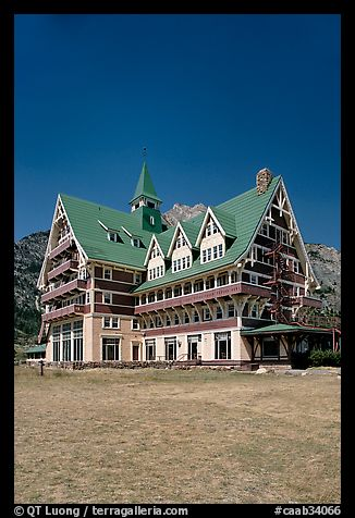 Prince of Wales hotel. Waterton Lakes National Park, Alberta, Canada (color)