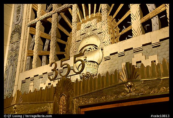Art Deco entrance of the Marine building. Vancouver, British Columbia, Canada (color)