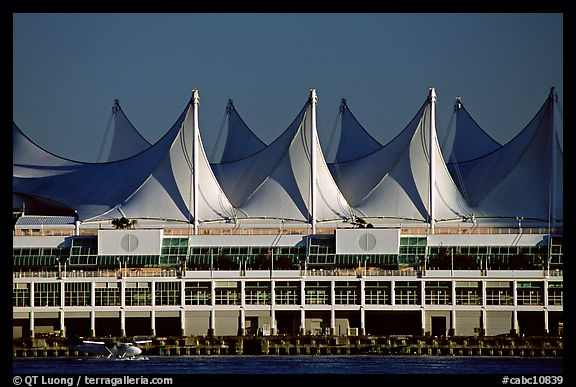 Canada Place and seaplane. Vancouver, British Columbia, Canada (color)