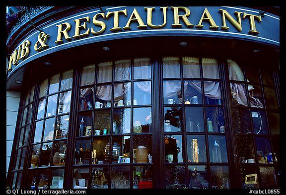 Pub And Restaurant Windows Victoria British Columbia Canada