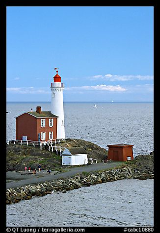 Fisgard Lighthouse National Historic Site. Victoria, British Columbia, Canada (color)