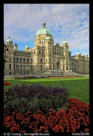 Parliament building, morning. Victoria, British Columbia, Canada (color)