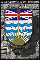Shield of British Columbia Province. Victoria, British Columbia, Canada ( color)