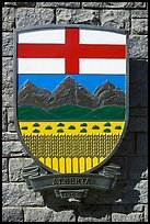 Shield of Alberta Province. Victoria, British Columbia, Canada ( color)