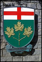 Shield of Ontario Province. Victoria, British Columbia, Canada ( color)