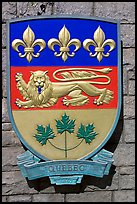 Shield of Quebec Province. Victoria, British Columbia, Canada ( color)