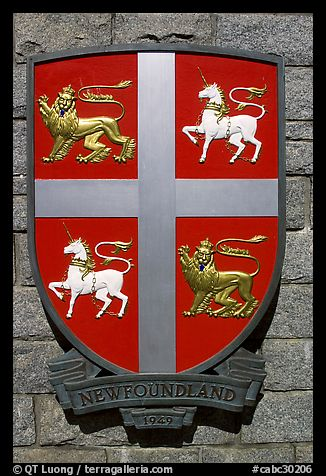 Shield of Newfoundland Province. Victoria, British Columbia, Canada (color)