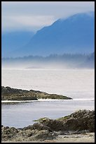 Ocean and coastal range. Pacific Rim National Park, Vancouver Island, British Columbia, Canada