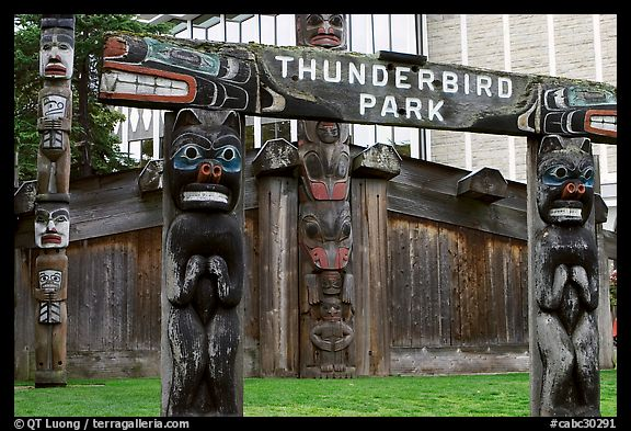 Picture/Photo: Thunderbird Park. Victoria, British ...